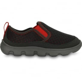 Crocs Kids Duet Sport Slip On Graphite/Flame, very light with a cool mesh upper