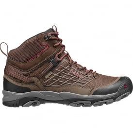 KEEN Mens Saltzman Mid WP Cascade Brown/Chilli Pepper, light and waterproof hiking boot