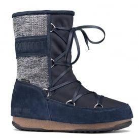 MoonBoot Moon Boots Vienna Mix Denim Blue, Waterproof Iconic Boot