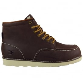 Dude Rocca Boot Dark Brown, Leather Lace up boot