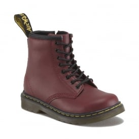 Brooklee Boot Cherry Red, the classic Dr Martens for tiny feet