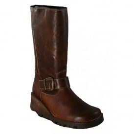 Oxygen Danube Boot Tan, Wedge leather style