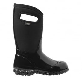 Bogs 71847 Durham Solid Black, 100% waterproof wellington keeping you dry with every stomp!