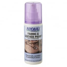 Nikwax Fabric & Leather Proof Spray 125ml, Spray on waterproofing to help maintain breathability and texture