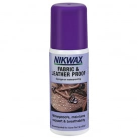 Nikwax Fabric & Leather Proof Sponge 125ml, Easy to use WaterBased waterproofing for fabric and leather footwear