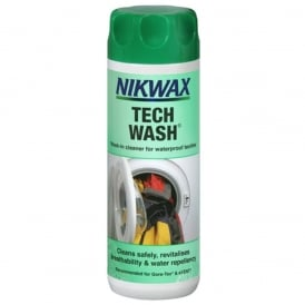 Nikwax Tech Wash 300ml, cleans, revitalises breathability & water repellency
