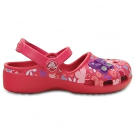 Karin Butterfly Clog Raspberry, a prettier & more feminine take on a Crocs clog