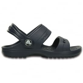 Crocs Kids Classic Sandal Navy, 2 strap sandal with room for Jibbitz