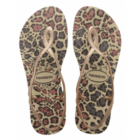 Havaianas Luna Animals Sand Grey/Rose Gold, with back strap for extra security