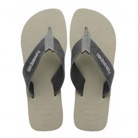 Havaianas Urban Basic Grey/Grey, fabric strap flip flop