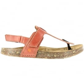 The Art Company 0865 We Walk Toe Post Granada, leather toe post sandal with secure back strap