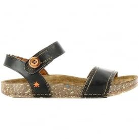 The Art Company 0866 We Walk Sandal Black, leather velcro sandal