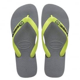 Havaianas Brasil Logo Steel Grey, the original flip flop