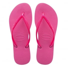 Havaianas Kids Slim Shocking Pink, Slim fitting flip flop