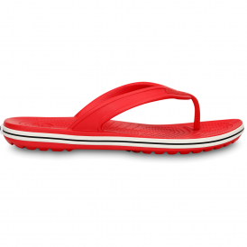 Crocs Crocband LoPro Flip Red, comfort with streamlined profile