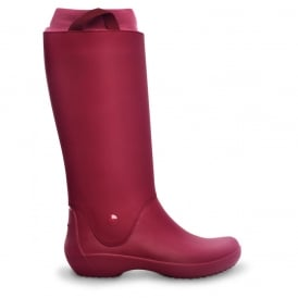Crocs RainFloe Boot Pomegranate, Exceptionally light rain boot with soft lining