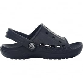 Crocs Kids Baya Slide Navy, the perfect croslite slip on sandal
