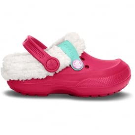 Crocs Kids Blitzen II Clog Raspberry/Oatmeal, easy to remove liner