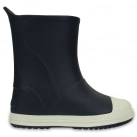Crocs Kids Bump It Rain Boot Navy/Oyster, sneaker inspired waterproof rain boot