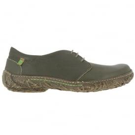 El Naturalista N797 Nido Shoe Khaki, womens lace up flat