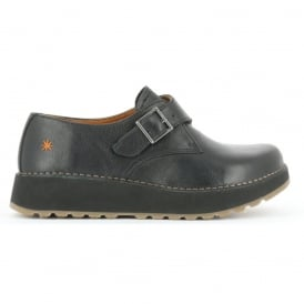 The Art Company 1021 Heathrow Black, Slight wedge look buckle up shoe