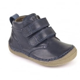 Froddo Minis Velcro Ankle Boot G2130100 Blue, leather velcro ankle boot