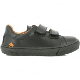 The Art Company A540 Infant Dover Star Black (Velcro Strap), velcro leather school shoe