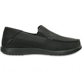 Crocs Santa Cruz 2 Luxe Leather Black/Black, comfortable smart adn refined
