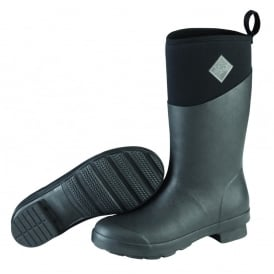 The Muck Boot Company Womens Tremont MID Black, Fashion & Performance Mid length Wellington