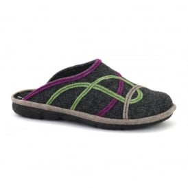 Romika Mikado Adult 85 Slipper Grey, comfort shoe with hardwearing outer sole