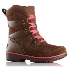 Sorel Youth Meadow Lace Y2414 Umber Afterglow, waterproof lace up boot
