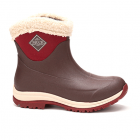 The Muck Boot Company Arctic Apres French Roast, smart slip on cuffed-fur boot to keep you warm, dry and stylish