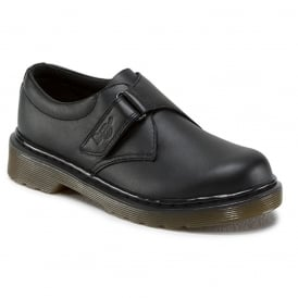 Dr Martens Jerry Youth Black, easy on school shoe