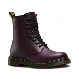 Dr Martens Delaney Boot Youth Purple, the classic for smaller feet