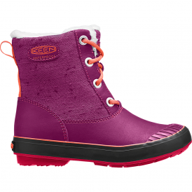 KEEN Youth Elsa Boot WP Purple Wine/Tigerlilly, waterproof fashionable winter boot for kids