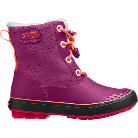 KEEN Kids Elsa Boot WP Purple Wine/Tigerlilly, waterproof fashionable winter boot for kids