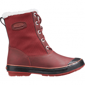 KEEN Womens Elsa Boot WP Zinfandel, waterproof leather and textile boots