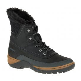 Merrell Womens Sylva Mid Lace WP Black, waterproof lace up boot