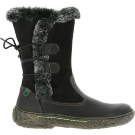 El Naturalista E755 Nido Black, leather boot with warm lining