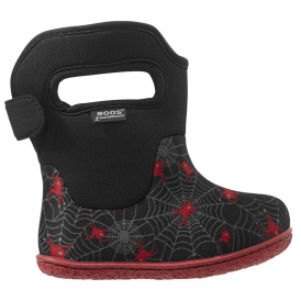 Bogs 718671 Infant Classic Creepy Crawler Black Multi, 100% waterproof wellington boots with snuggly warm lining