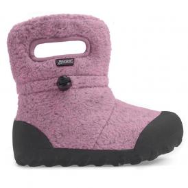 Bogs 72012 Junior B-Moc Fleece Pink, 100% waterproof wellington boot with adjustable draw cord system
