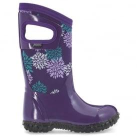 Bogs 72007 North Hampton Pompons Grape Multi, 100% waterproof wellington boots