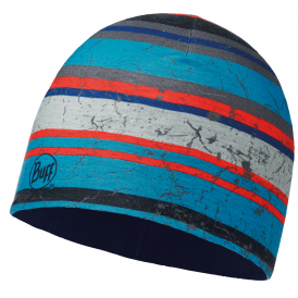 Buff Kids Microfiber & Polar Fleece Hat Dash Multi/Blue Depths, warm and soft hat with fleece lining