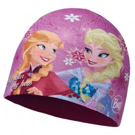 Buff Kids Frozen Microfiber & Polar Fleece Hat Sisters Pink/Mardi Grape, warm and soft hat with fleece lining