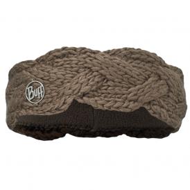 Buff Nyssa Knitted Polar Fleece Headband Brown/Brown, warm and soft knitted headband with fleece lining