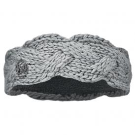 Buff Nyssa Knitted Polar Fleece Headband Light Grey/Grey, warm and soft knitted headband with fleece lining