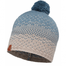 Buff Mawi Merino Wool Knitted Hat Stone Blue, warm and soft merino wool hat