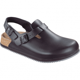 Birkenstock Tokio Super-Grip Black 061194, boston clog with a back strap