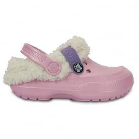 Crocs Kids Blitzen II Clog Ballerina Pink/Stucco, easy to remove liner
