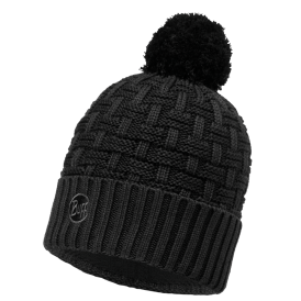 Buff Airon Knitted and Polar Hat Black